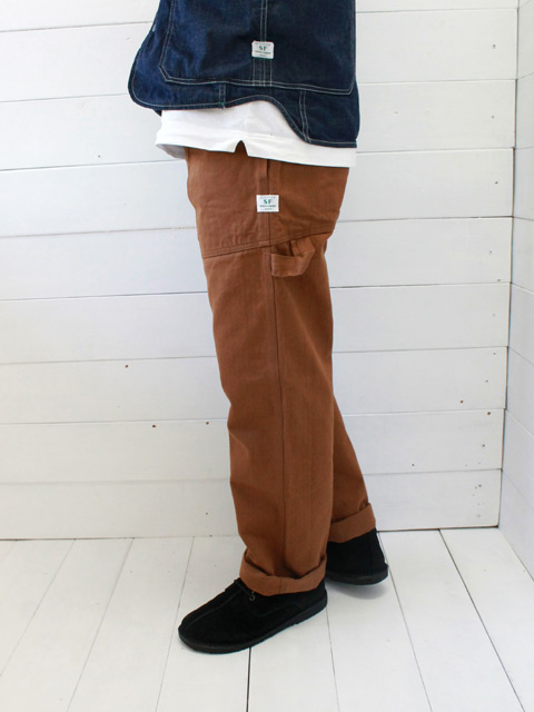 SASSAFRAS(ササフラス) FALL LEAF GARDENER PANTS HERRINGBONE / BROWN (SF-191493)