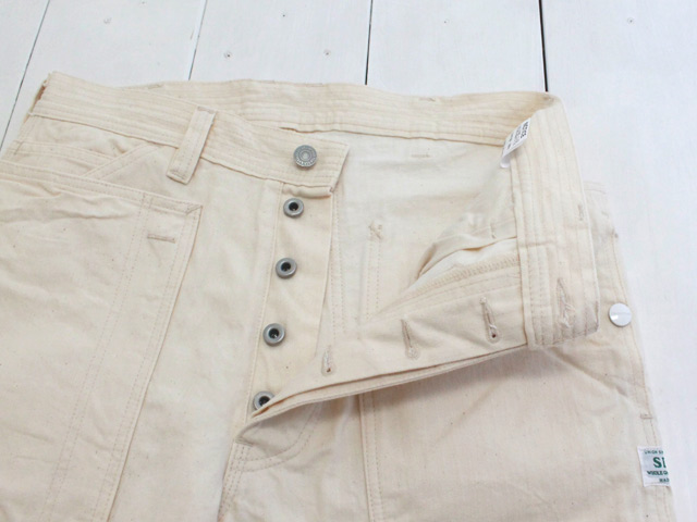 SASSAFRAS(ササフラス) FALL LEAF GARDENER PANTS HERRINGBONE / NATURAL (SF-191493)