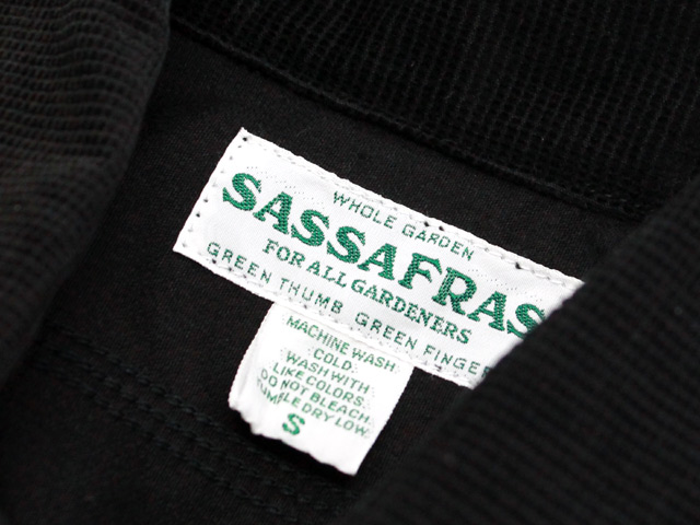 SASSAFRAS BLOWER HALF DOBBY CORD BLACK SF-191529