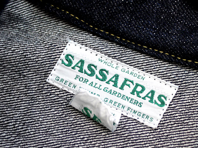 SASSAFRAS(ササフラス) GARDENER R JACKET 14oz DENIM/INDIGO