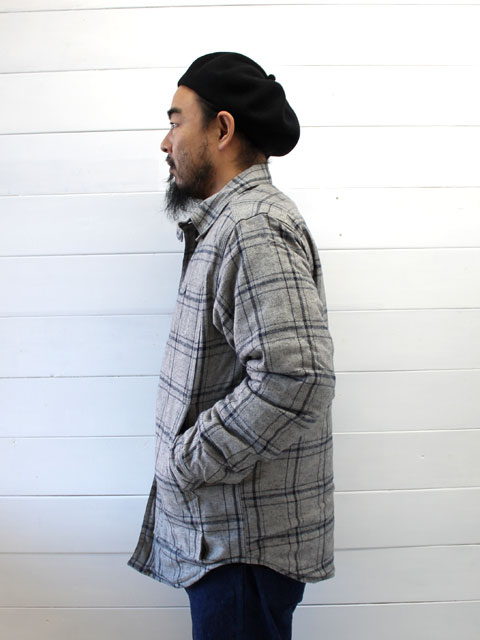 SASSAFRAS 着こなし画像 FEEL SUN HALF + HERRINGBONE FLANNEL SF-171263