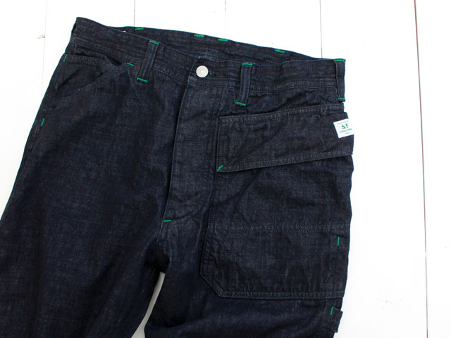 SASSAFRAS(ササフラス) GARDENER PANTS 9oz DENIM / INDIGO