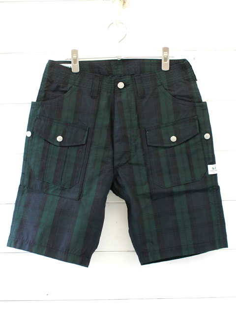 SASSAFRAS BOTANICAL SCOUT PANTS1/2 COTTON NYLON RIPSTOP / CHECK SF-181347