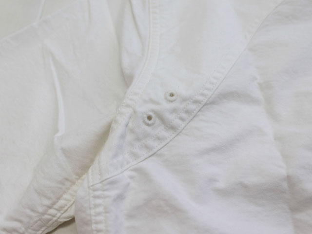 SASSAFRAS ササフラス GREEN THUMB SHELL SHIRT 1/2 OXFORD WHITE SF-181341