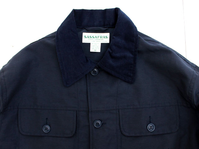 SASSAFRAS GARDEN HOLE JACKET 60/40 NAVY SF-181368