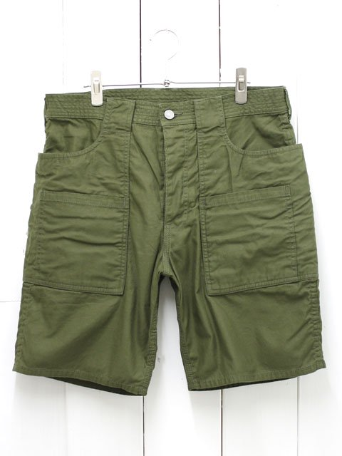SASSAFRAS(ササフラス) WEEDS PANTS 1/2 BACK SATIN OLIVE (SF-161108)
