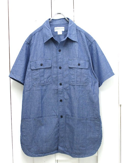 SASSAFRAS(ササフラス)BOTANICAL SCOUT APRON SHIRT 1/2 CHAMBRRAY BLUE (SF-161103)