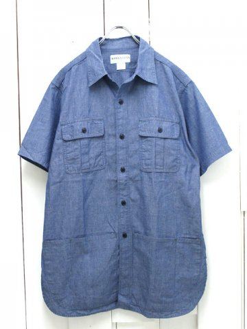 SASSAFRAS(ササフラス)<br>BOTANICAL SCOUT APRON SHIRT 1/2 CHAMBRRAY BLUE (SF-161103)