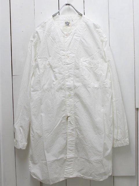 orslow【オアスロウ】 ロング ワークシャツ ホワイト (03-8073-69)