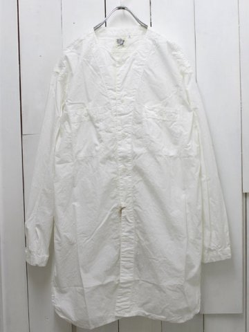 orslow(オアスロウ) ロング ワークシャツ ホワイト (03-8073-69)