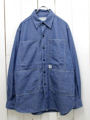 SASSAFRAS(ササフラス)<br>TRANSPLANT HALF CHAMBRAY BLUE (SF-161130)