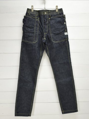 SASSAFRAS(ササフラス)<br>FALL LEAF SPRAYER PANTS 13.5oz DENIM / INDIGO