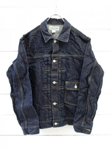 SASSAFRAS(ササフラス)<br> GARDENER R JACKET 14oz DENIM/INDIGO