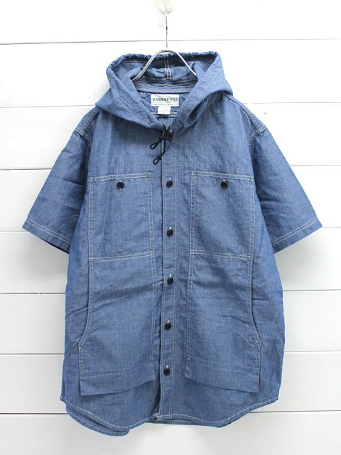 SASSAFRAS(ササフラス)FEEL SUN BUD HALF 1/2 CHAMBRAY/BLUE (SF-161102)