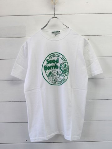 SASSAFRAS(ササフラス)<br>SEED BOMB T WHITE×GREEN (SF-161123)