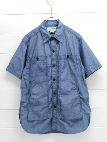 SASSAFRAS(ササフラス)<br>FEEL SUN SHIRT 1/2 5oz CHAMBRAY/BLUE (SF-171227)