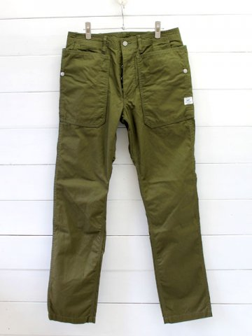 SASSAFRAS(ササフラス)<br> FALL LEAF SPRAYER PANTS  GABARDINE OLIVE (SF-171241)