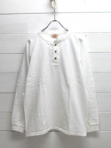 GOODWEAR (グッドウェア) <br>日本別注 ヘンリーネック 長袖Tシャツ