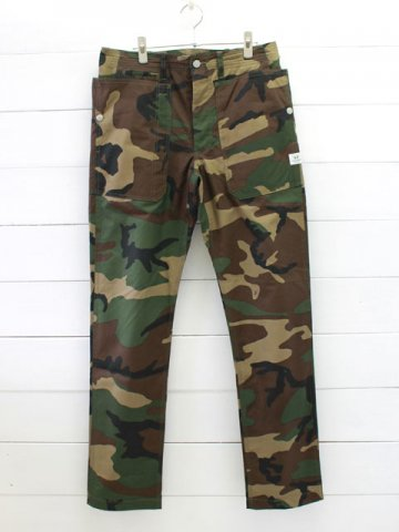 SASSAFRAS (ササフラス)<br>FALL LEAF SPRAYER PANTS WEEDS POPLIN / WOODLAND CAMO (SF-181312)