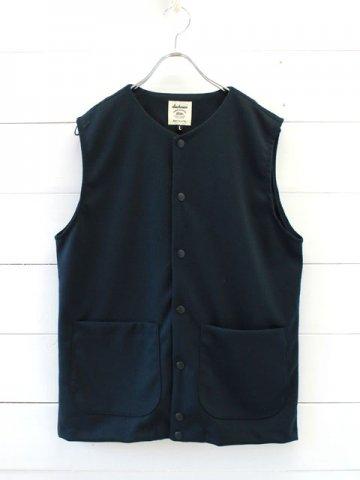 Jackman(ジャックマン) Jersey Collarless Vest (JM7813)