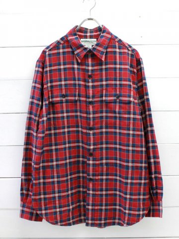 SASSAFRAS(ササフラス)<br>C&P.O.APRON SHIRT C/L RED (SF-181306)