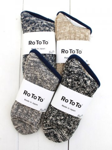 RoToTo(ロトト) LOW GAUGE SLUB SOCKS (R1054)