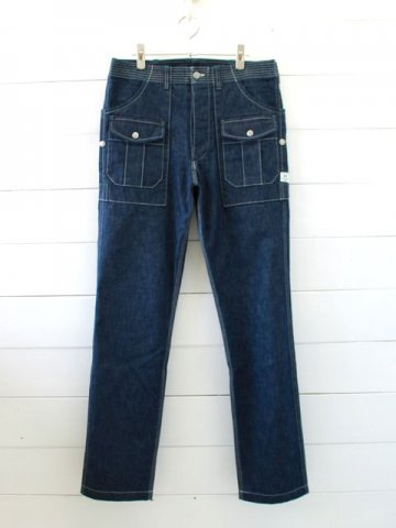 SASSAFRAS(ササフラス)<br>BOTANICAL SCOUT PANTS 10ozDENIM / INDIGO (SF-181321)