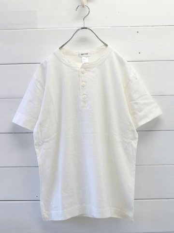 BETTER(ベター) <br>MID WEGHT HENLEY NECK S/S SLEEVE T-SHIRT<br>RAFFY COTTON (BTR1603HL)