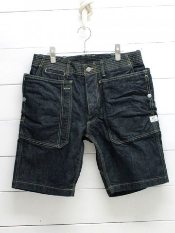 SASSAFRAS(ササフラス)<br>FALL LEAF SPRAYER PANTS 1/2 13.5oz DENIM / INDIGO (SF-181329)