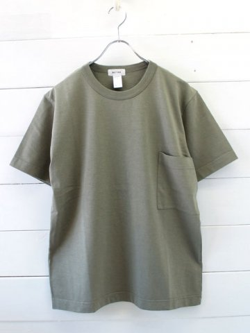 BETTER(ベター) SUPIMA SLUB CREW NECK POCKET T-SHIRT (BTR1802)