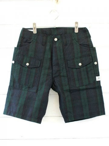 SASSAFRAS(ササフラス)<br>BOTANICAL SCOUT PANTS1/2 COTTON NYLON RIPSTOP<br>CHECK (SF-181347)