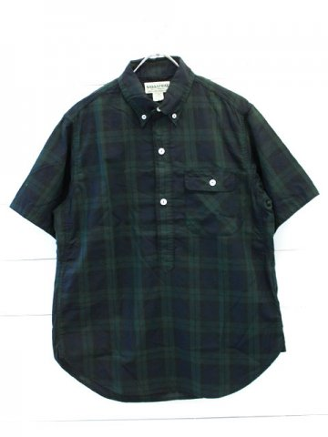 SASSAFRAS(ササフラス)<br>GREEN THUMB SHELL SHIRT 1/2 OXFORD CHECK (SF-181341)