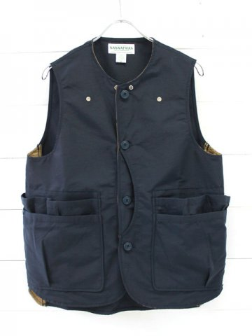 SASSAFRAS(ササフラス)<br>WHOLE HOLE VEST 60/40 / NAVY (SF-181373)