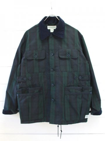 SASSAFRAS(ササフラス)<br>GARDEN HOLE JACKET COTTON NYLON CHECK (SF-181368)
