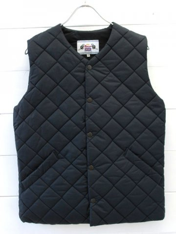 BEAVER OF BOLTON (ビーバーオブボルトン) <br>QUILTING NO COLLAR VEST (UM3176)