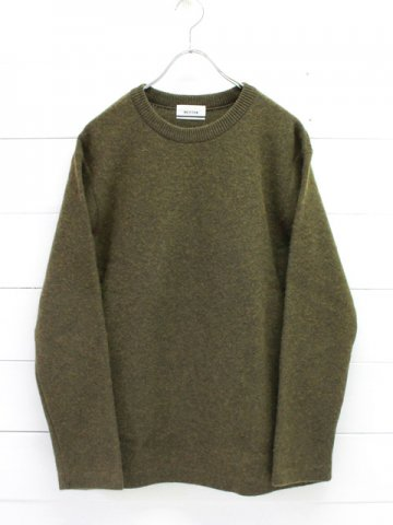 BETTER(ベター) FELTED WOOL CREW NECK PULL-OVER (BTRK1805)