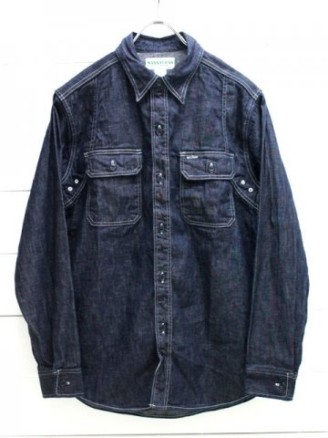 SASSAFRAS(ササフラス)<br>WILD MASHROOM HALF 8oz DENIM / INDIGO (SF-181394)