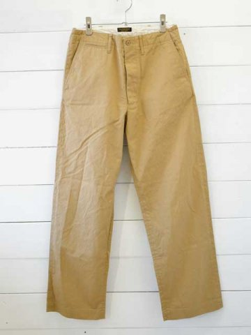 A VONTADE (アボンタージ) <br>Type 45 Chino Trousers - Wide Fit - beige (VTD-0340-PT)