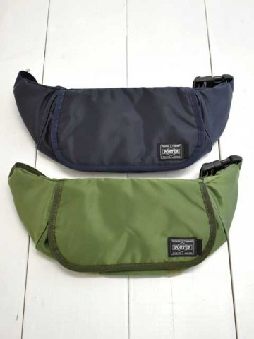 KAPTAIN SUNSHINE (キャプテンサンシャイン) <br>Traveller Funny Bag MADE BY PORTER Nylon Twill Padding (KS9SGD06)