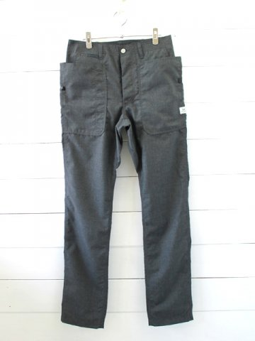 SASSAFRAS(ササフラス)<br>FALL LEAF SPRAYER PANTS T/R PLANE WEAVE CHARCOAL (SF-191444)