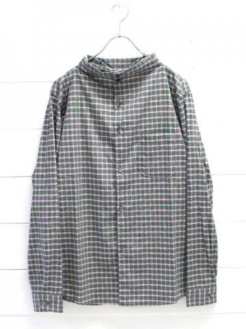 nisica (ニシカ) ガンジーシャツ グレーチェック (NIS-880)