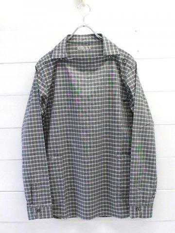 nisica (ニシカ) デッキマンシャツ グレーチェック (NIS-881)