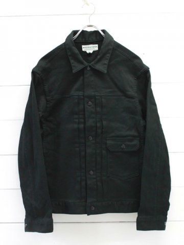 SASSAFRAS(ササフラス)<br>GARDENER JACKET Pique / Black (SF-191498)
