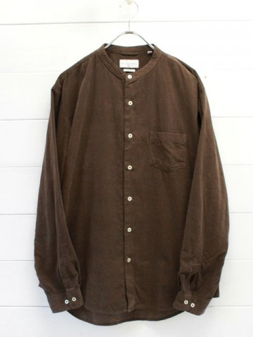MANUAL ALPHABET (マニュアルアルファベット)<br>CORDUROY LOOSE FIT BAND COLLAR SHT (MA-S-491)