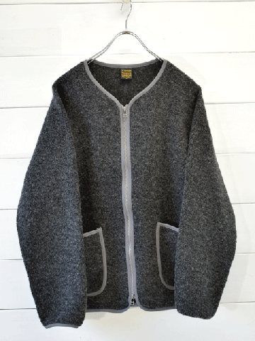 A VONTADE (アボンタージ)  Wool Pile Zip Cardigan (VTD-0497-CS)