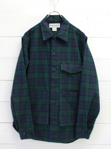 SASSAFRAS(ササフラス)<br>DIGS CREW HALF TARTAN CHECK / BLACK WATCH (SF-191530)