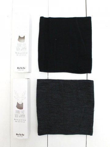 RoToTo(ロトト) MERINO WOOL DOUBLE FACE NECK WARMER (R1103)