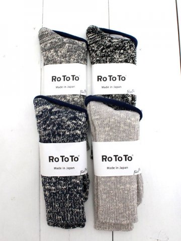 RoToTo(ロトト)<br>LOW GAUGE SLUB CREW SOCKS (R1251)