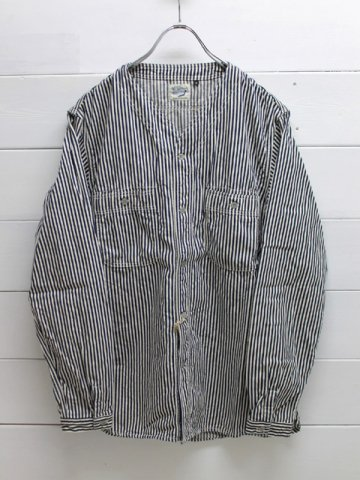 orslow (オアスロウ)<br>NO COLLAR SHIRT HICKORY (01-8073-180)