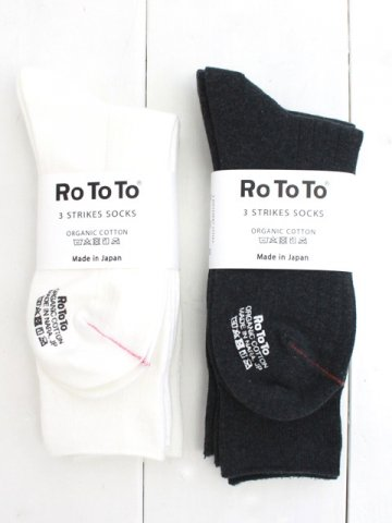 RoToTo(ロトト) 3 STRIKE SOCKS (R1228)